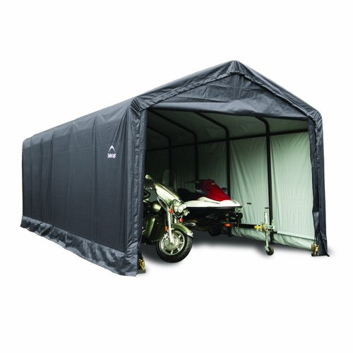 ShelterTube™ Garage/Storage Shelter, 12'x20'x11', Gray Cover