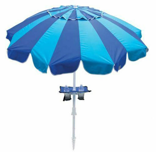 7' 20 Panel Umbrella (Integrated Sand Anchor) with added table