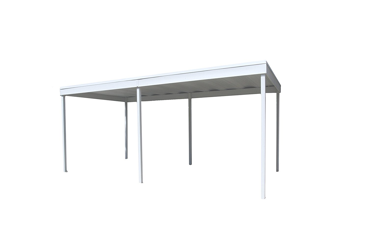 Freestanding Carport/Patio Cover, 10x10, Hot Dipped Galvanized Steel with Vinyl Coating, Eggshell Finish, Flat Roof