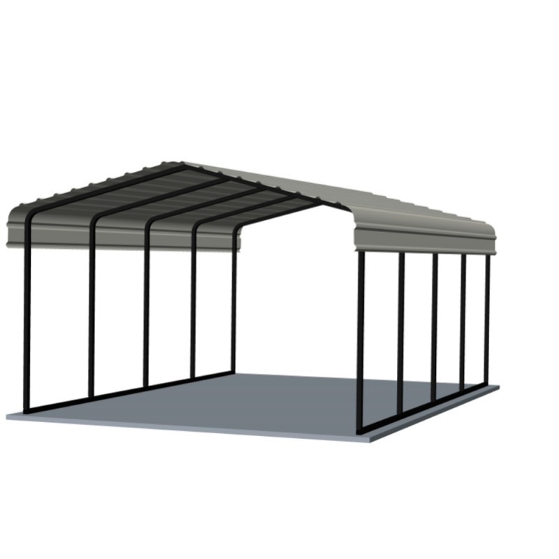 Arrow® Carport, 12x20x7, 29 Gauge Galvanized Steel Roof Panels, 2 in. (5 cm) Square Tube Frame