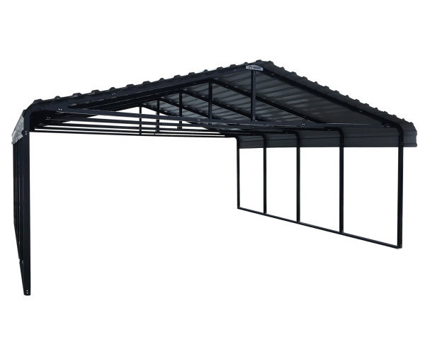 Arrow Carport 20 x 20 - Eggshell