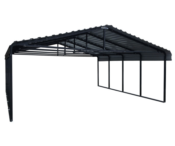 Arrow Carport 20 x 20 - Charcoal