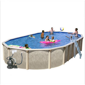 Only Galveston 30 39 X 15 39 Slim Oval 52 Above Ground Complete Deluxe Pool Package Ga