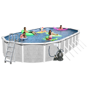 Only Tango 45 39 X 18 39 Oval 52 Above Ground Complete Deluxe Pool Package Ta 451852gm Pkg