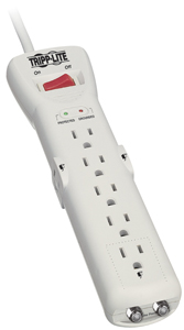 TRIPP LITE SUPER7COAX 7-Outlet Surge Protector (Coaxial Protection, 7ft cord)