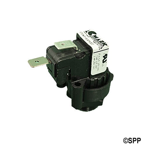 Air Switch, Tecmark, Latching, SPNO, 20A, Center Spout