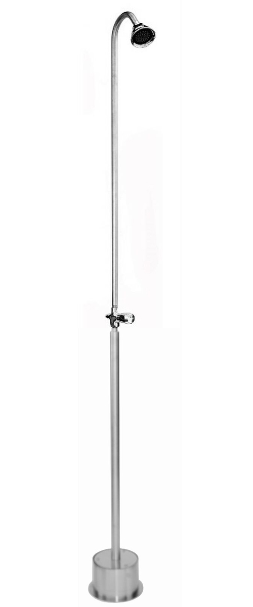 ADA Compliant Free Standing Single Supply Shower with 3? Shower Head