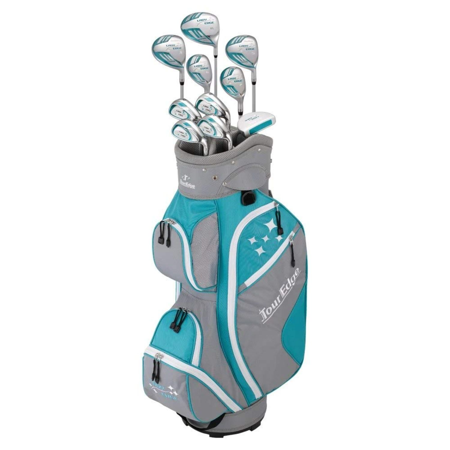 Tour Edge 2020 Lady Edge Full Set Turquoise Grey White