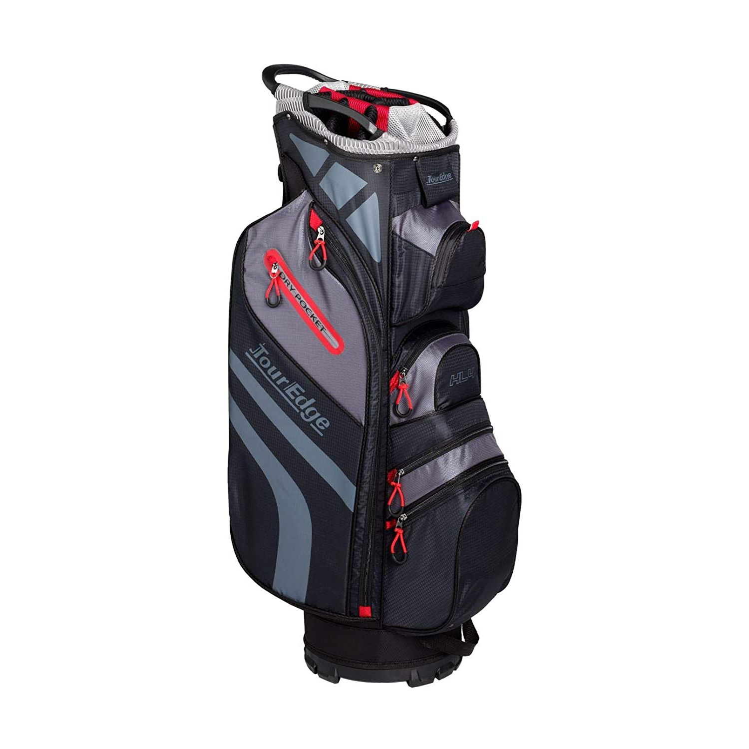 Tour Edge Hot Launch HL4 Golf Cart Bag-Black Red Silver