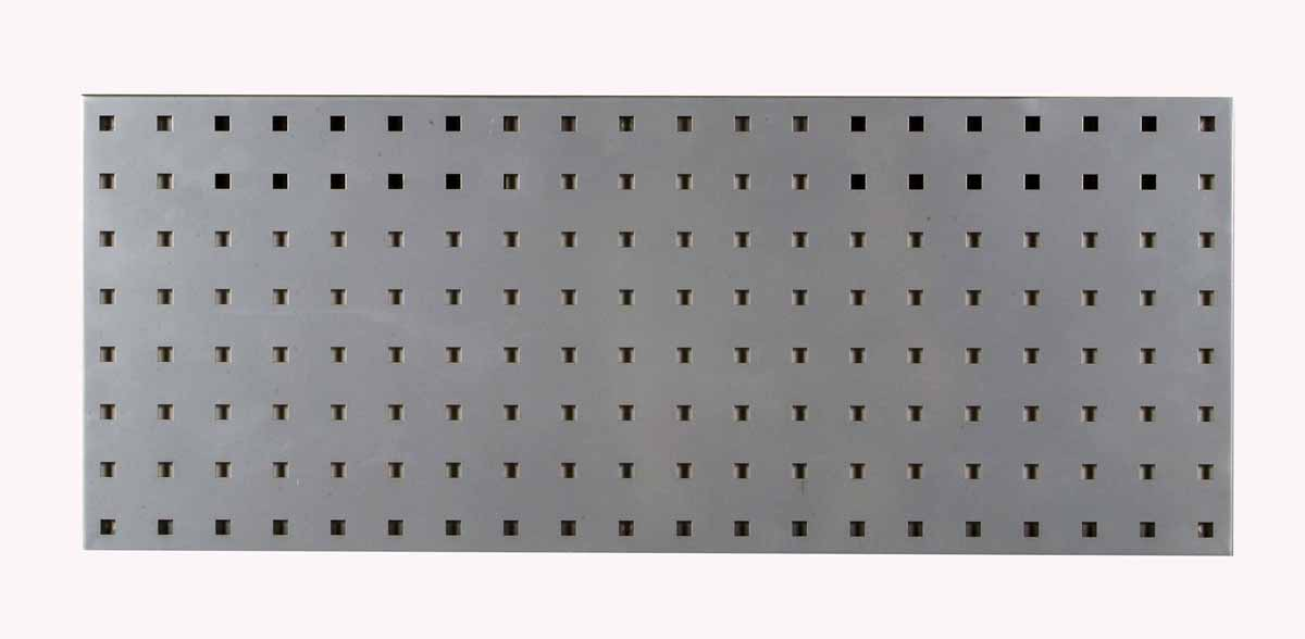"(1) 30""W x 12""H Silver Epoxy, 18 Gauge Steel Square Hole Pegboard Strip"