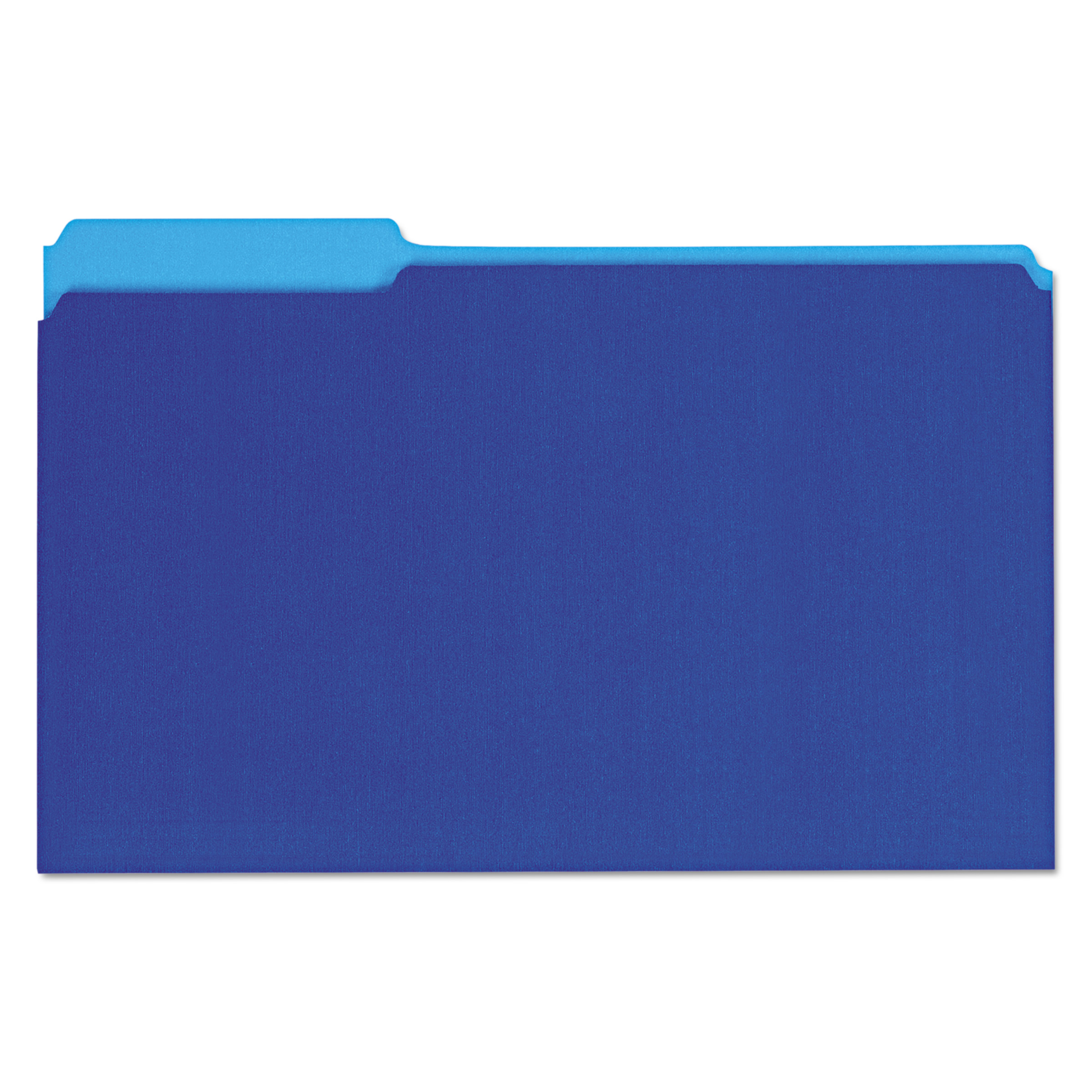 Recycled Interior File Folders, 1/3 Cut Top Tab, Legal, Blue, 100/Box