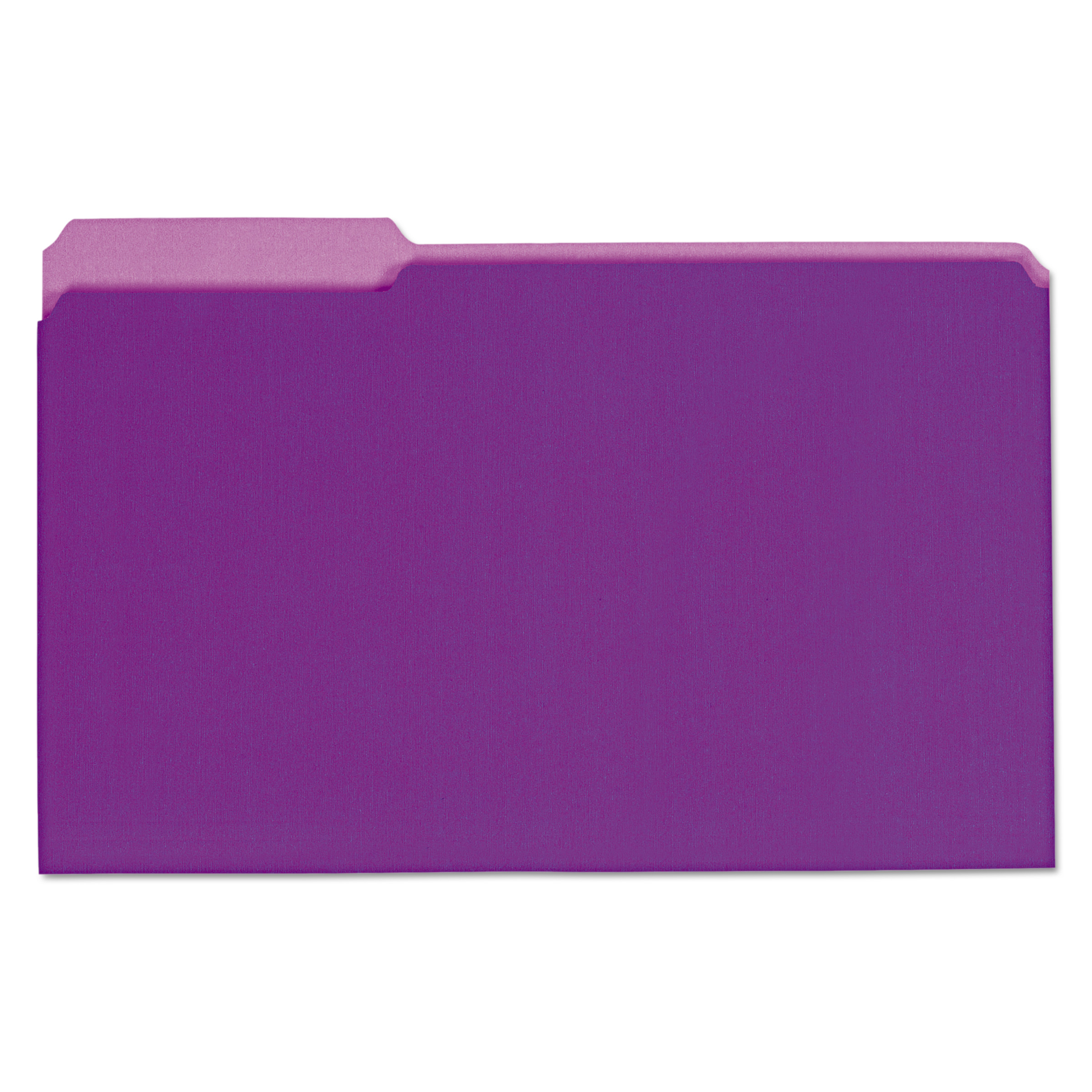 Recycled Interior File Folders, 1/3 Cut Top Tab, Legal, Violet, 100/Box