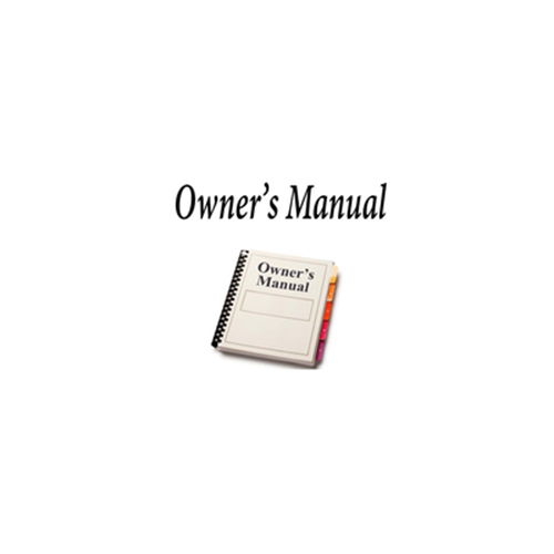 OWNERS MANUAL FOR TALKER