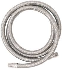 "WATTS� ICE MAKER CONNECTOR SUPPLY LINE, 1/4"" COMPRESSION X 1/4"" COMPRESSION X 60"" LONG, BRAIDED NYLON, LEAD FREE"
