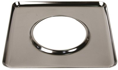GAS RANGE SQUARE DRIP PAN FITS WHIRLPOOL� RANGES, CHROME, 7-3/4 IN.