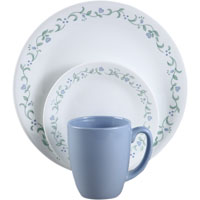 Corelle Vitrelle 6022006 Dinnerware Set, 16 Pieces, Durable Stoneware