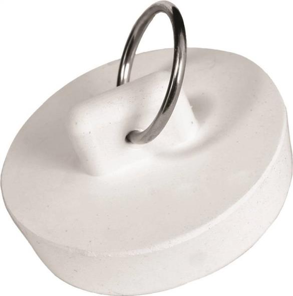 Worldwide Sourcing PMB-105 Drain Stopper, Fits Size 1-1/4 in, Rubber, White