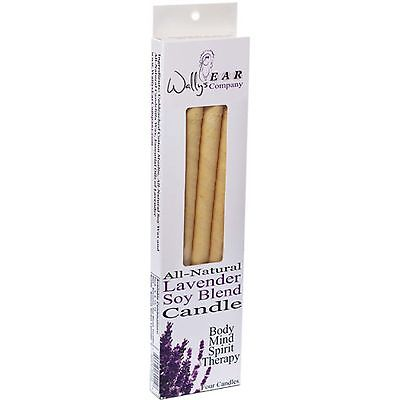 Wallys Natural Soy Blend Lavender Ear Candles (1x4 EACH)