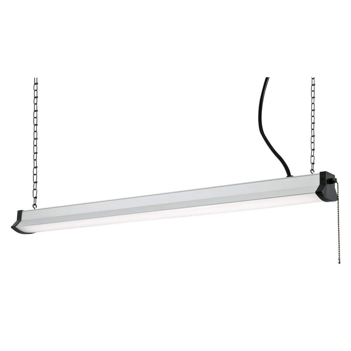 "36"" LED Shop Light Silver Finish with Frosted Lens"