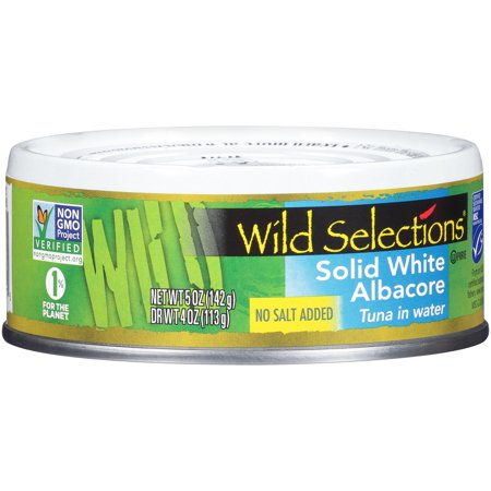 Wild Selections Solid White Albacore Tuna In Water No Salt Added (12x5 OZ)