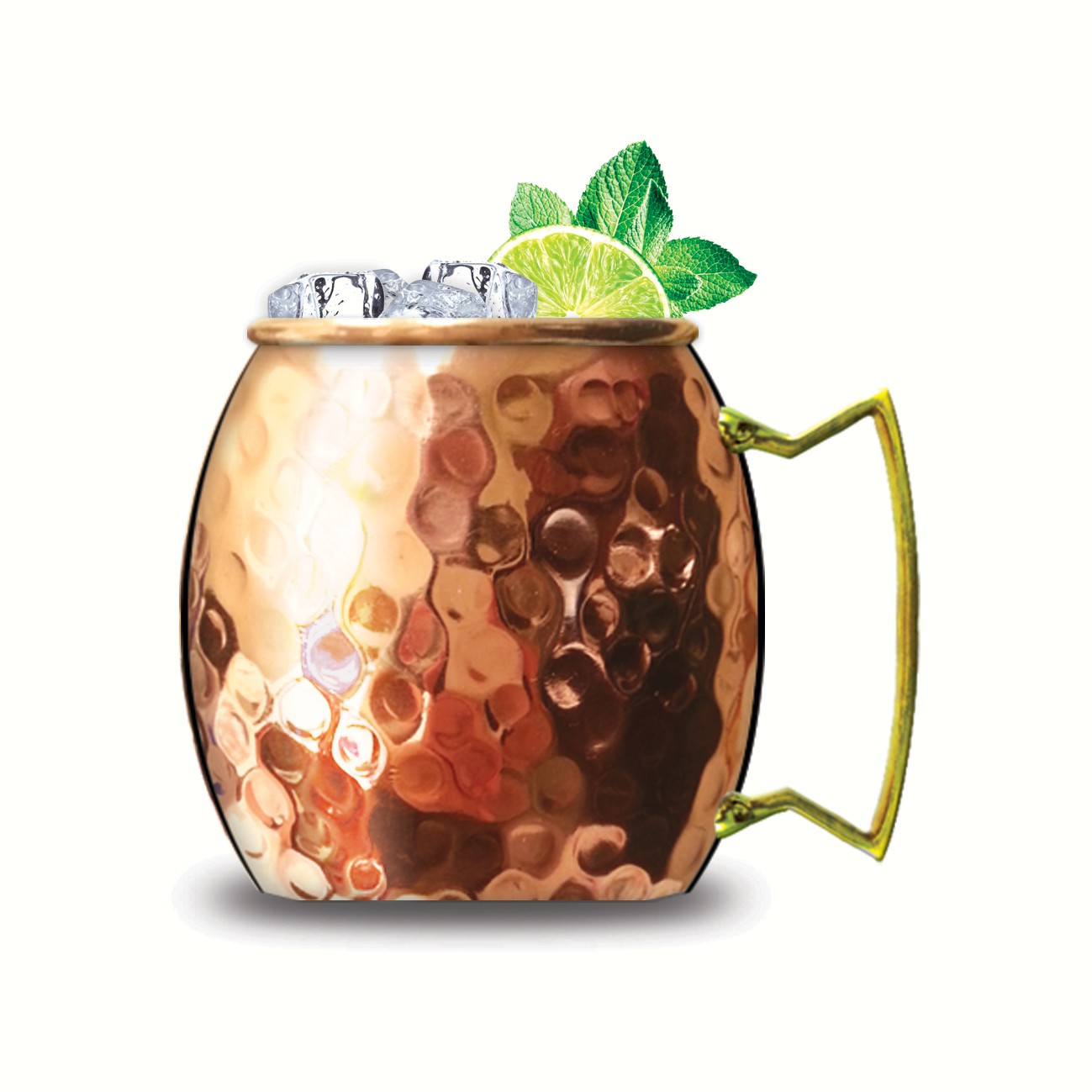 Moscow Mule Copper Mug with Brass Handle 20 oz
