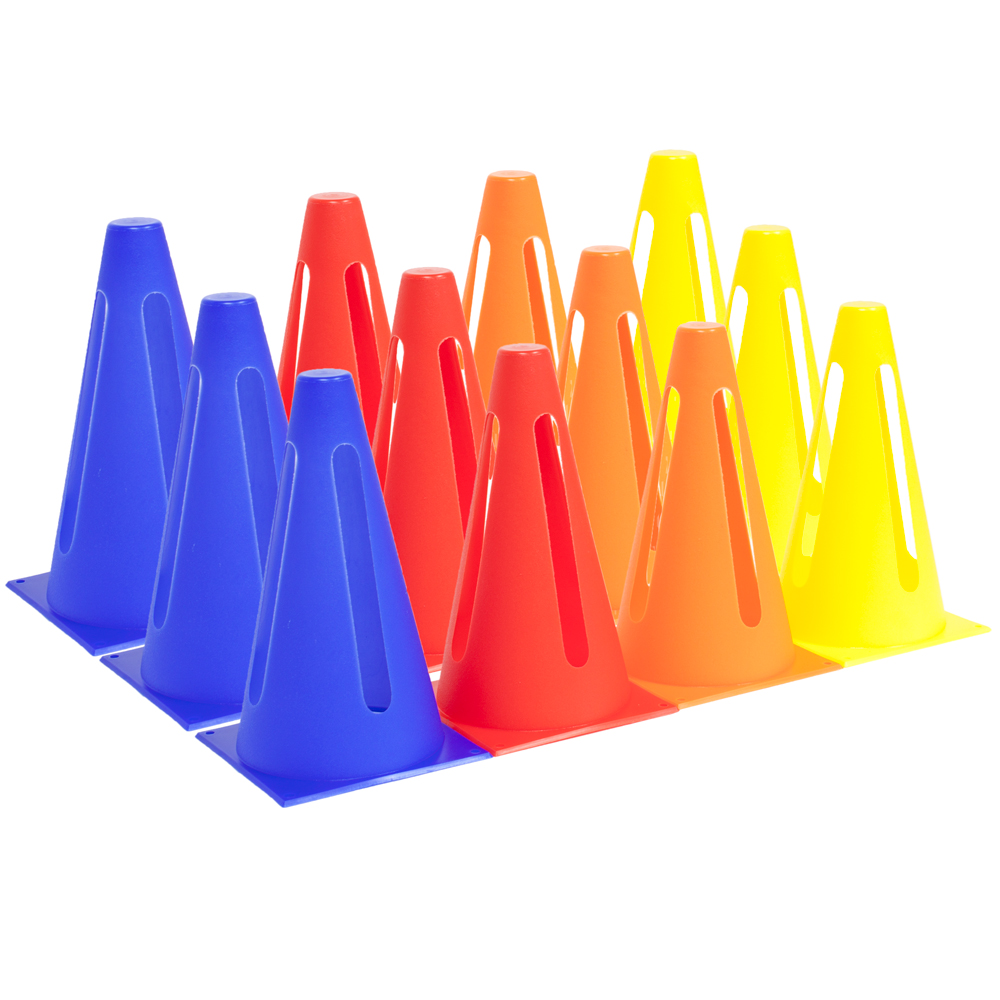 12-pack Collapsible Sport Cones, 4 Colors