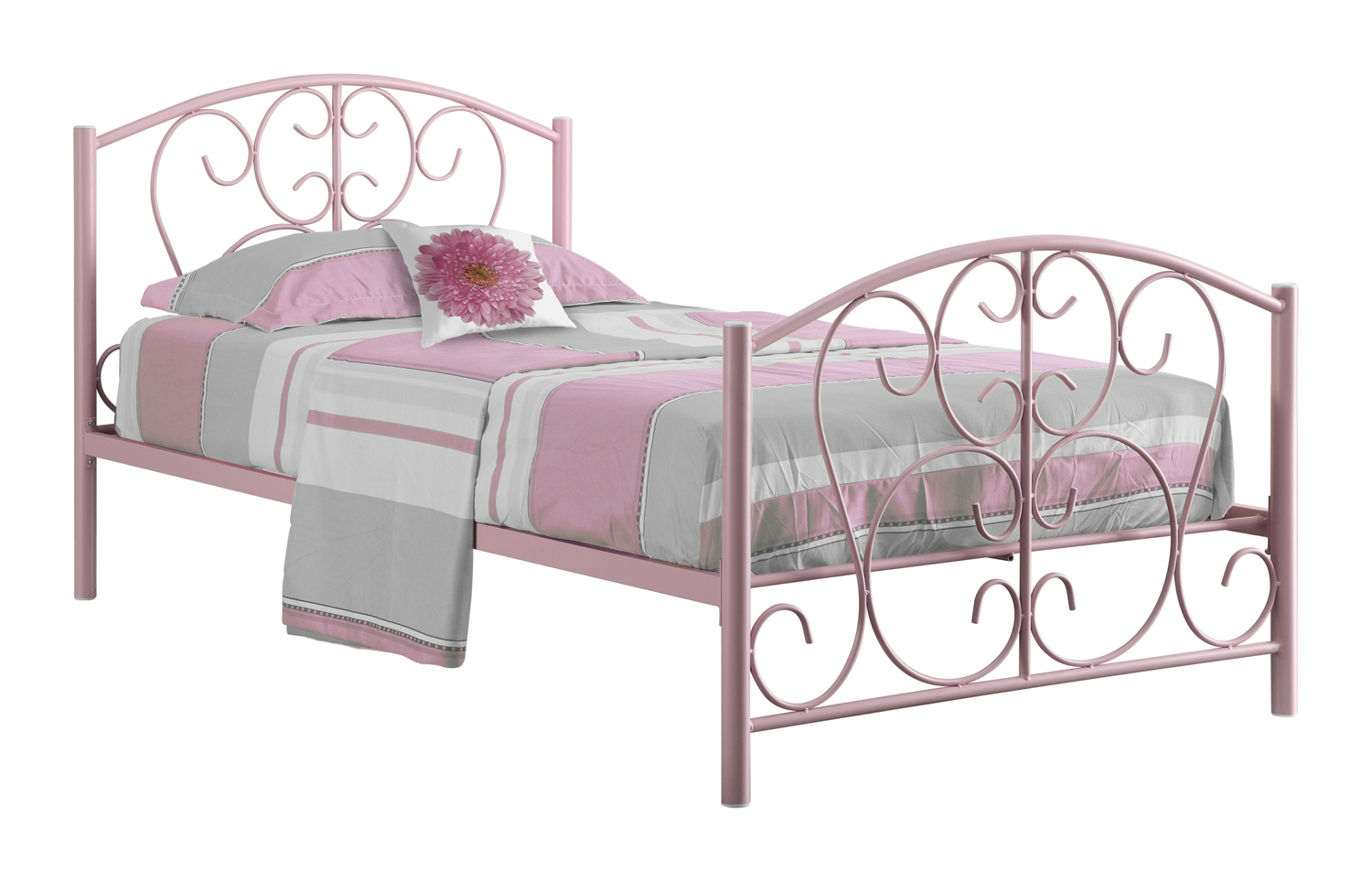 Only twin size metal bed frame pink 878218004451 for Twin bed frame clearance