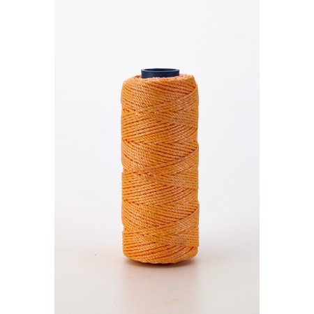 Nylon Mason Twine, 1 lb. Braided, 18 x 1000 ft., Glo Orange (Pack of 4)