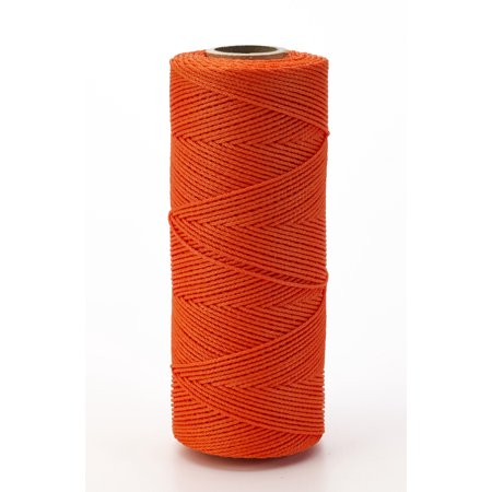 Nylon Mason Twine, 1/4 lb. Braided, 18 x 250 ft., Glo Orange (Pack of 6)