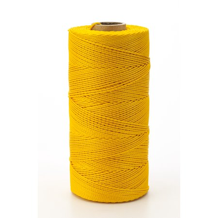 Nylon Mason Twine, 1 lb. Braided, 18 x 1000 ft., Yellow (Pack of 4)