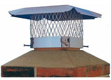 HY-C SC Chimney Cap, 13 X 13 in, Stainless Steel, Black Powder Coated